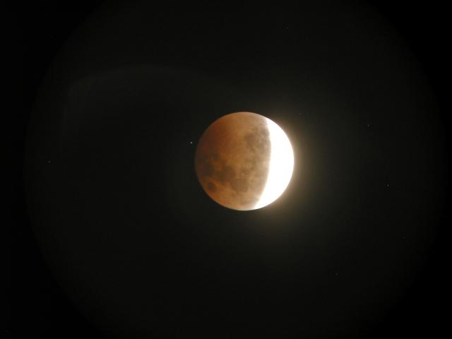 Lunar Eclipse as seen in Clifton, New Jersey