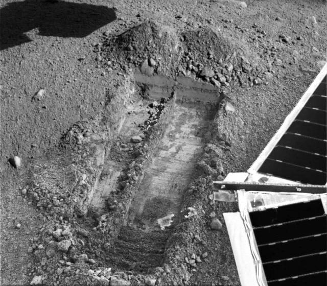 Mars icey foot